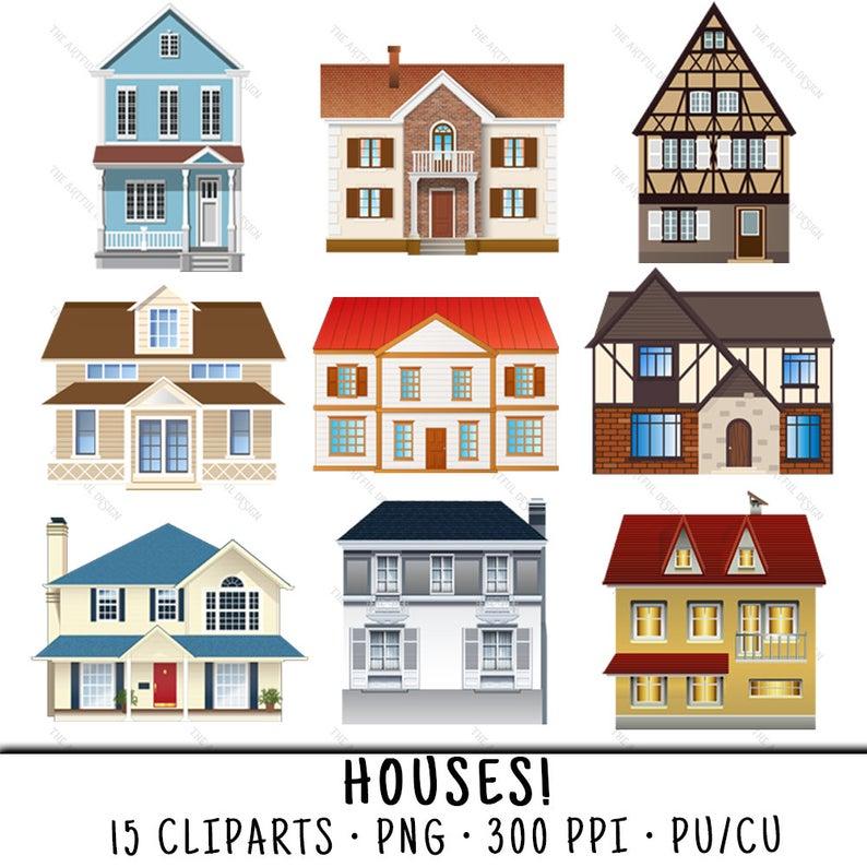 House Clipart, House Clip Art, Clipart House, Clip Art House, House PNG,  PNG House, Houses Clipart, Houses Clip Art, Cute House.
