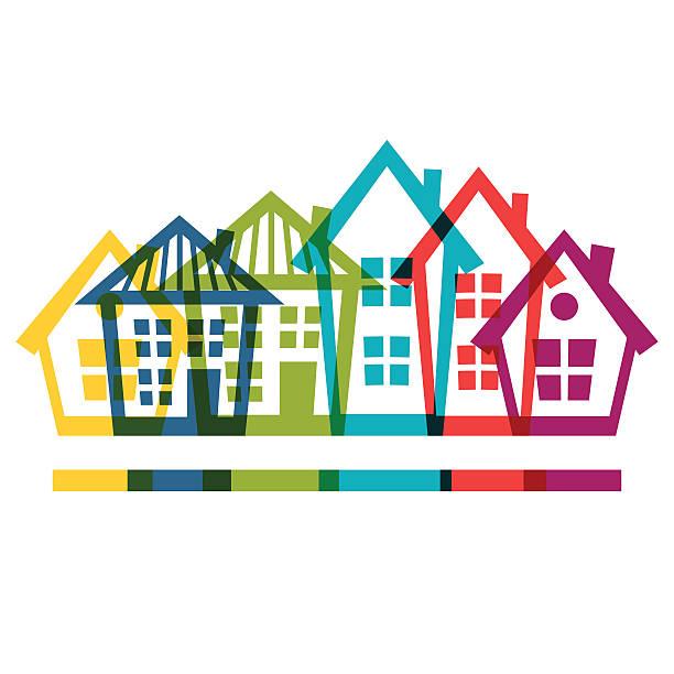 Best Housing Development Illustrations, Royalty.