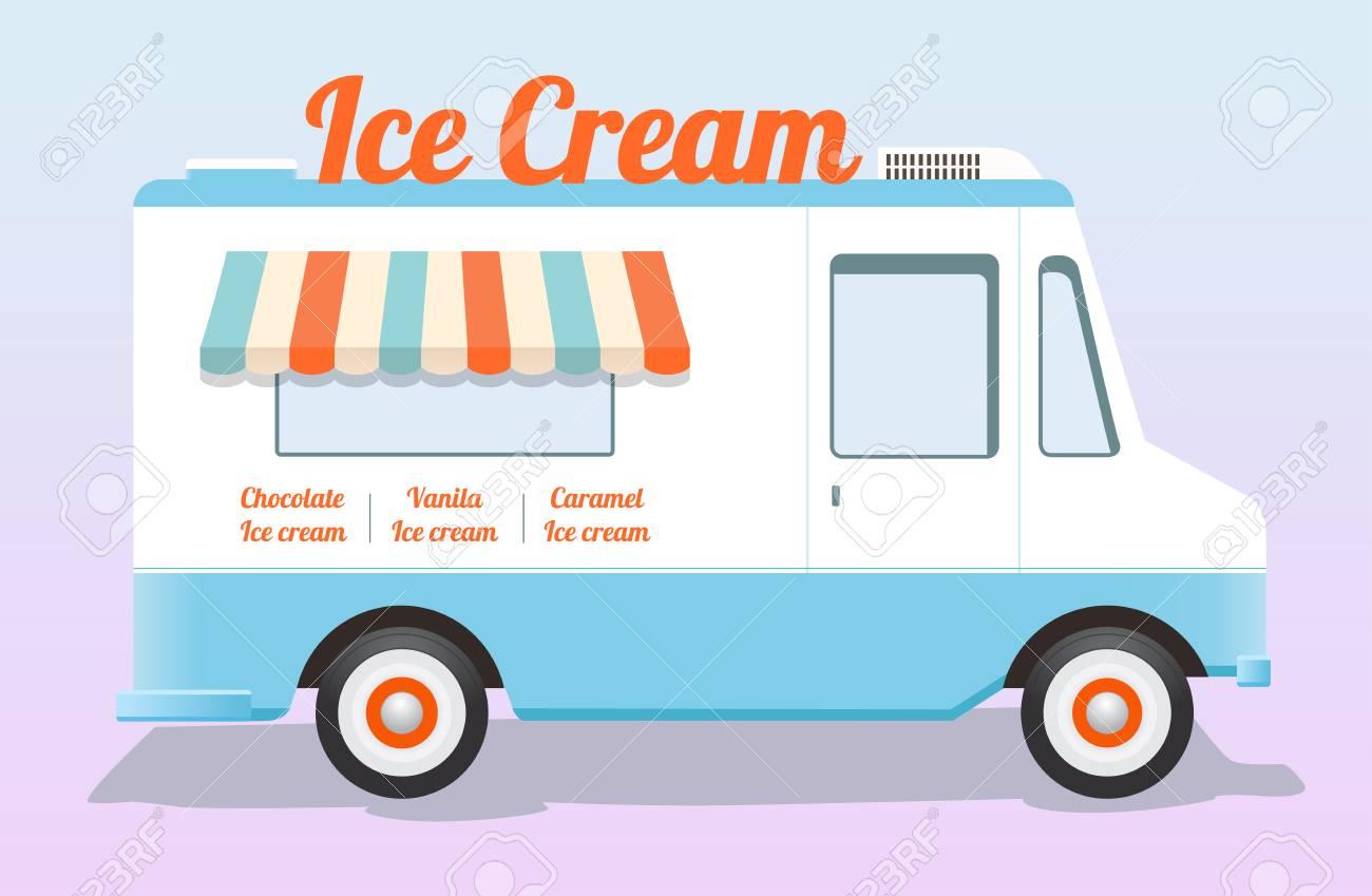 colorful ice cream truck.