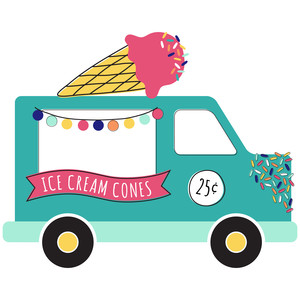 Ice Cream Truck Clipart 13.
