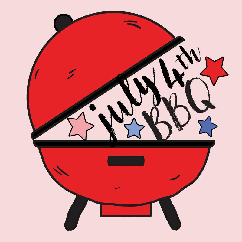 4th of July Clipart, vector, fourth of July bbq clipart, summer.