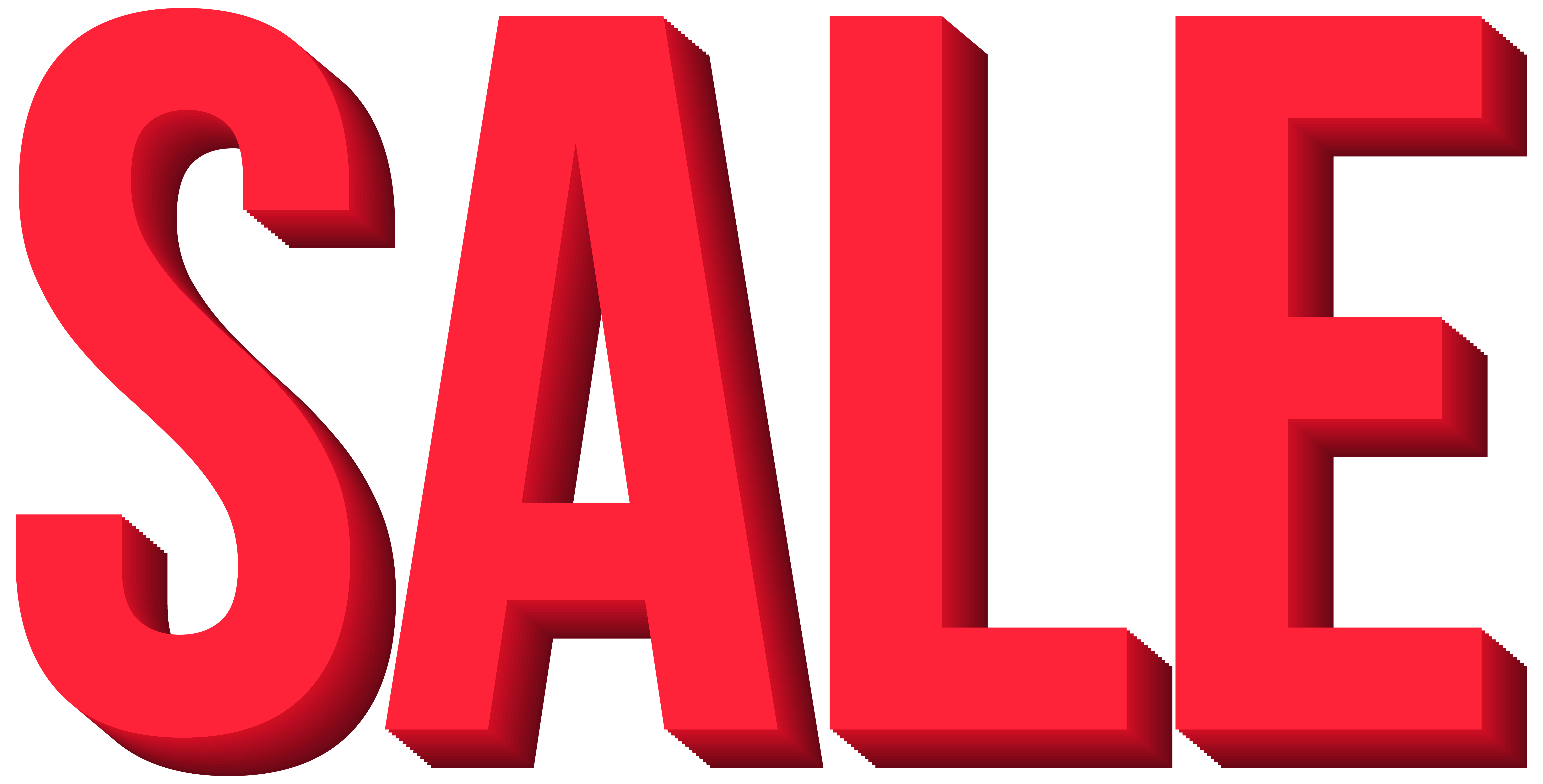 Red Sale Transparent PNG Clip Art Image.