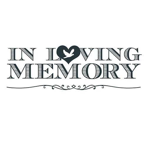 In Loving Memory Word Art.
