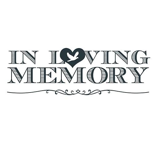 In Loving Memory Word Art.