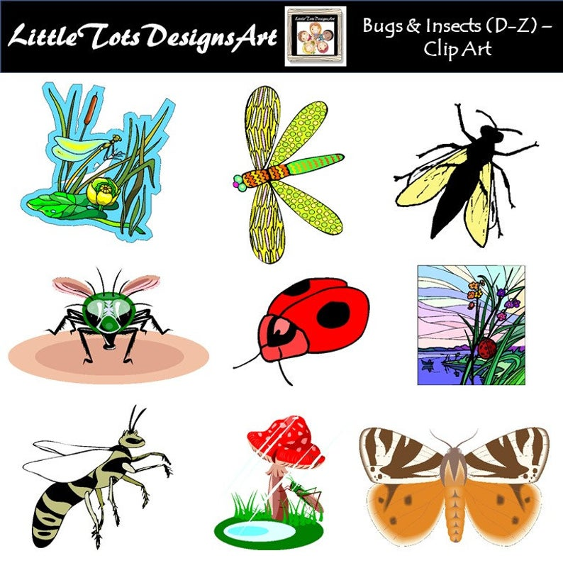 Bugs Clip Art Clipart, Insect Clipart Clip Art, Digital Clipart, PNG  Images, Personal or Commercial Use, Instant Download.