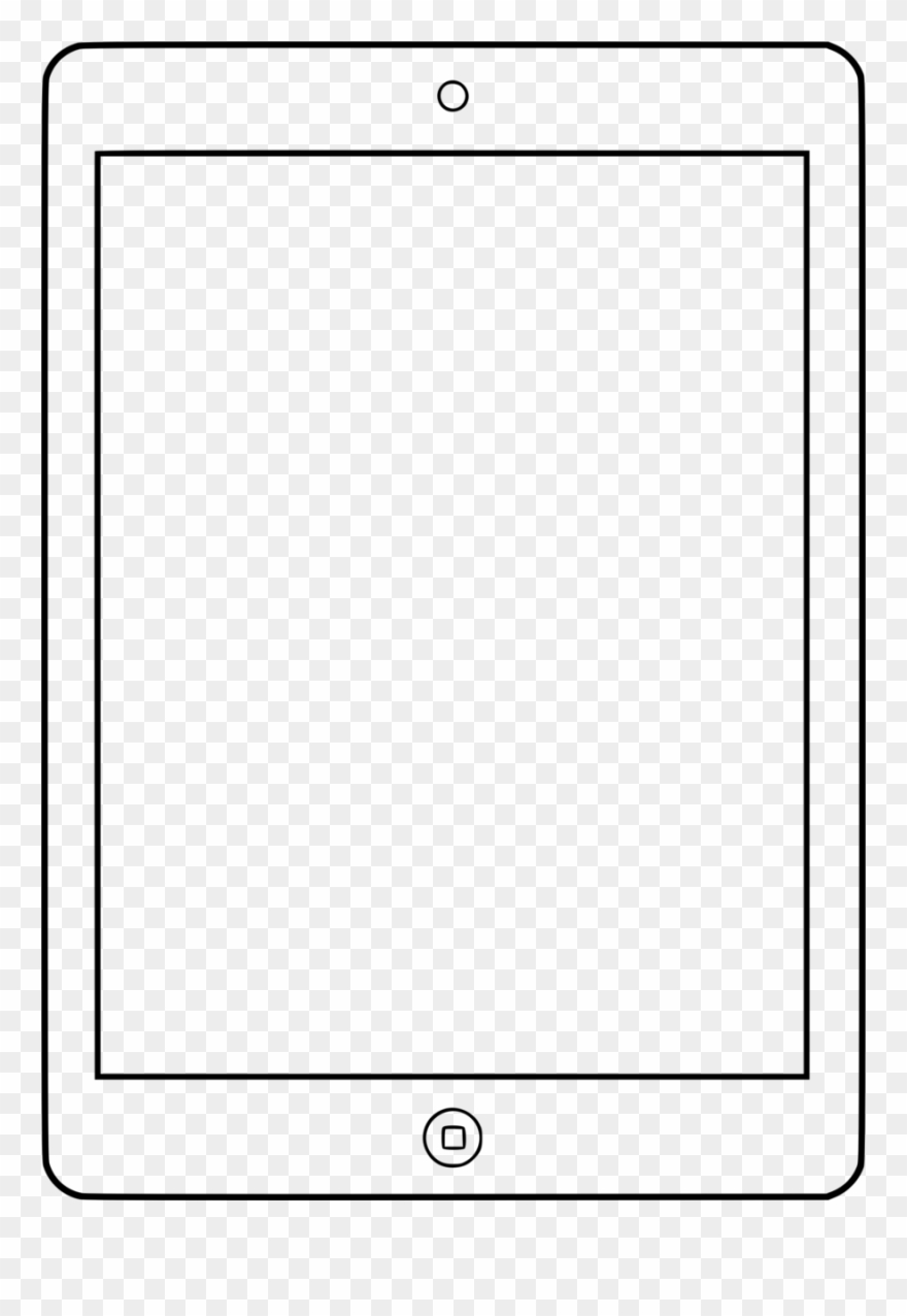 Ipad Black And White Clipart Ipad 2 Clip Art.