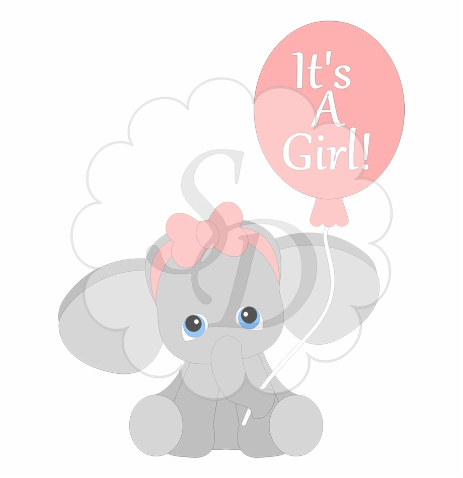 Image Free Library Baby Girl Elephant Clipart.