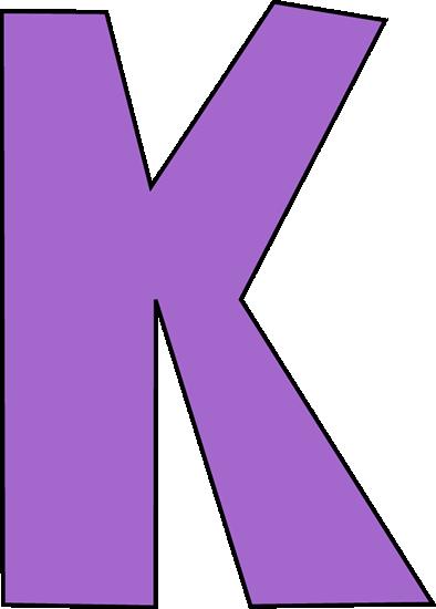 letter k clip art image.
