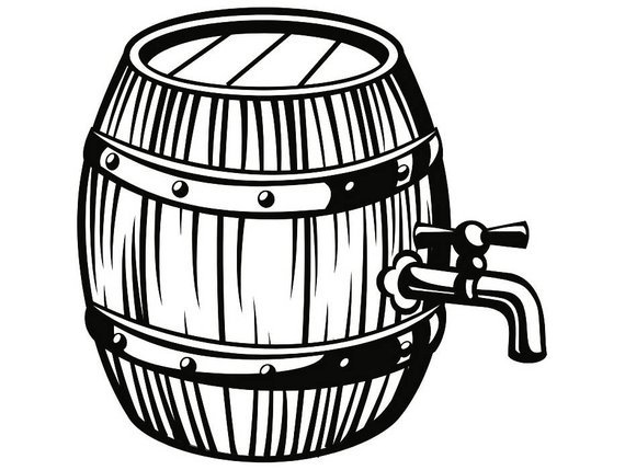 Keg clipart black and white 2 » Clipart Portal.
