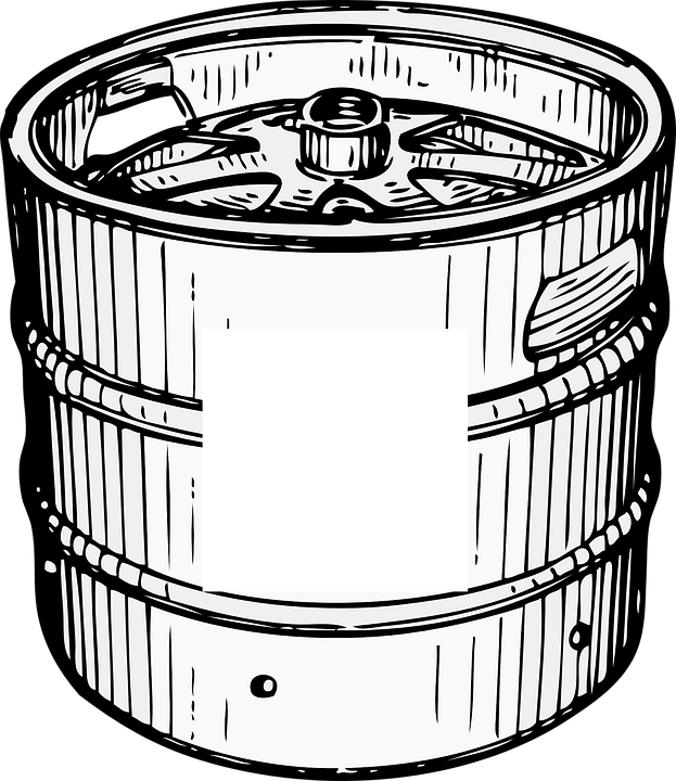 Beer Keg Clipart transparent PNG.