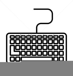 Clipart Picture Of Computer Keyboard.
