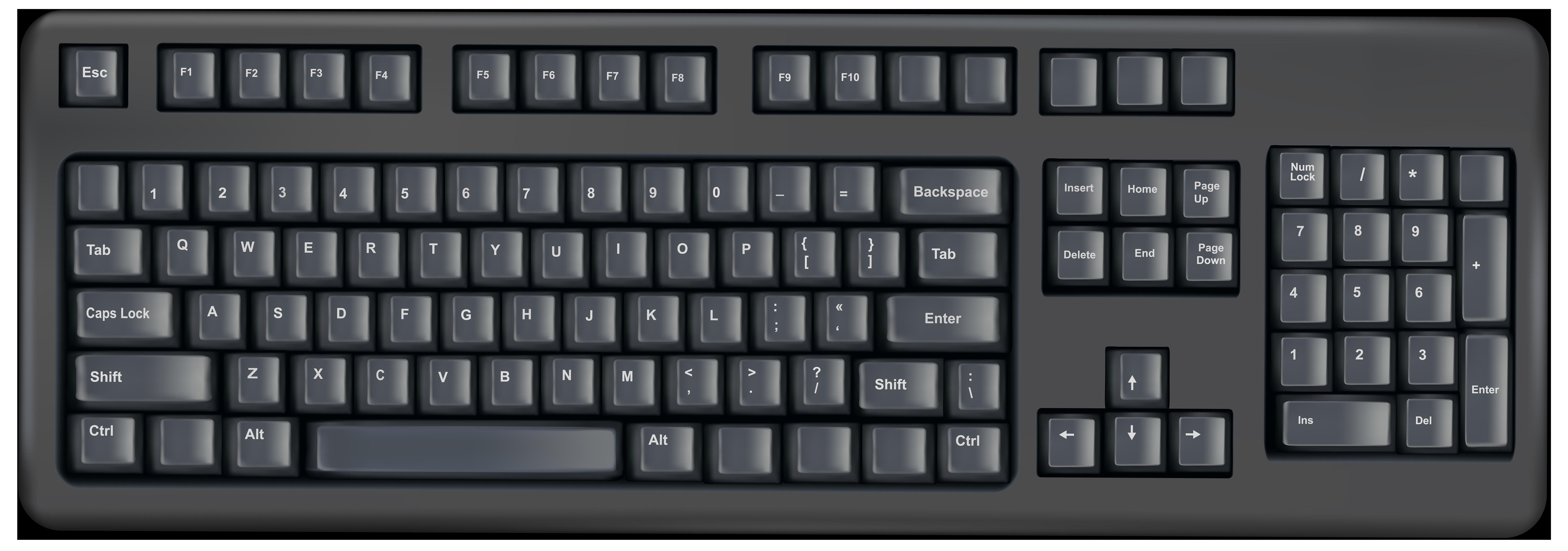 Keyboard Transparent PNG Clip Art Image.