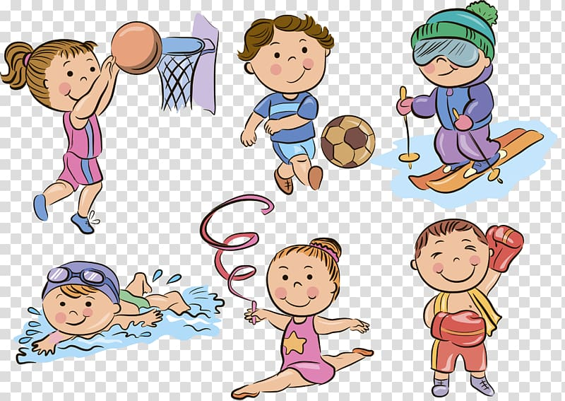 Sport , kids sports transparent background PNG clipart.