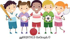 Kids Sports Clip Art.