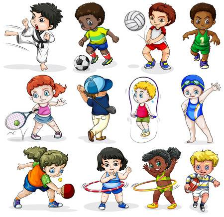 55,393 Kids Sports Stock Illustrations, Cliparts And Royalty Free.