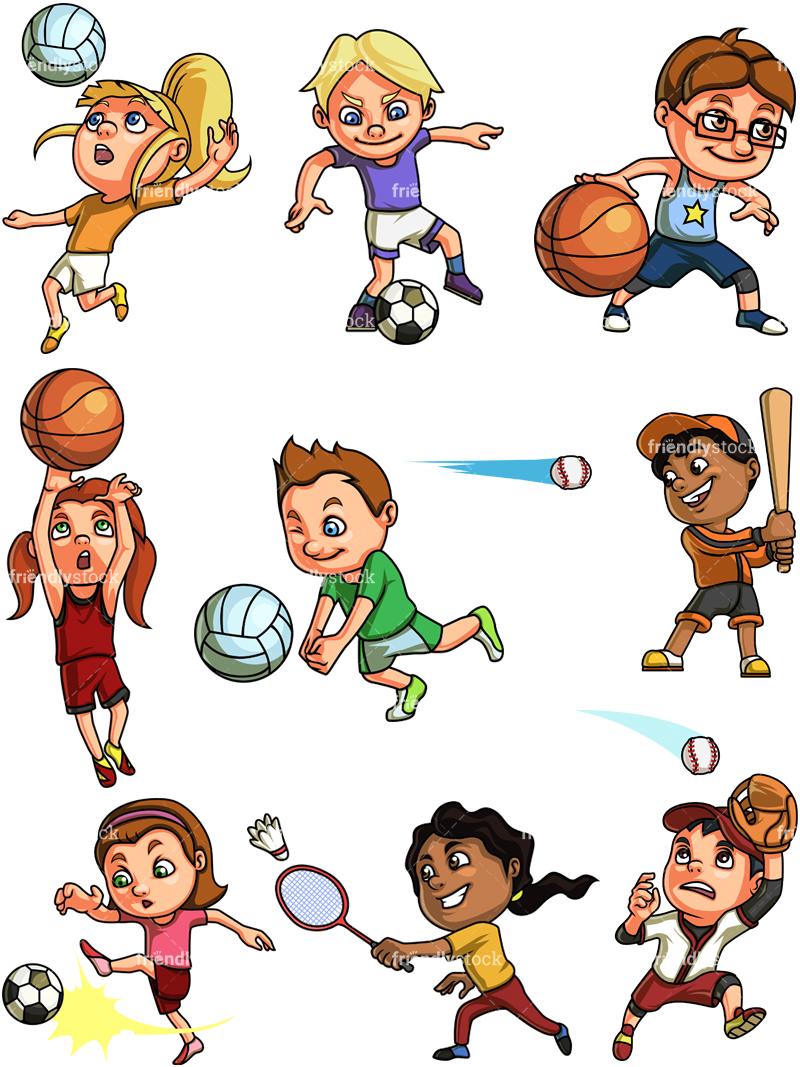 Kids Playing Sports #1.