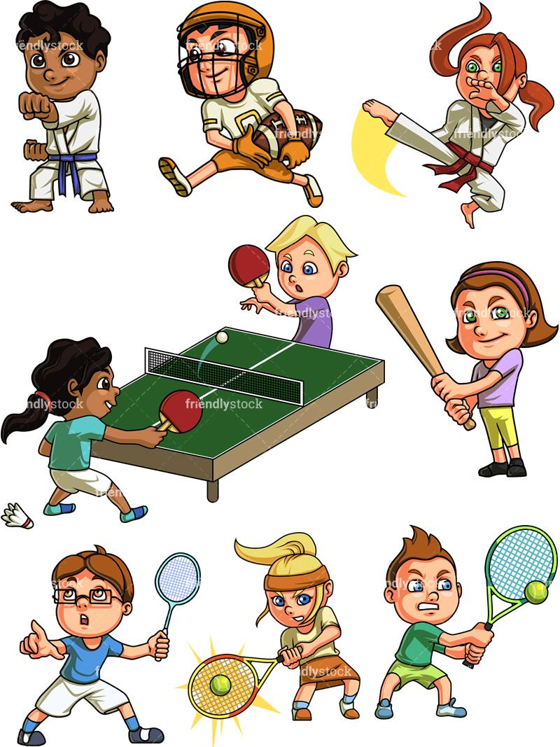Kids Playing Sports #2.
