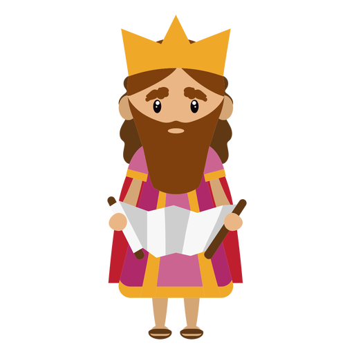King david character illustration.