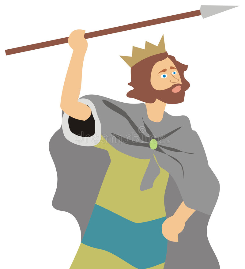 King David Stock Illustrations.