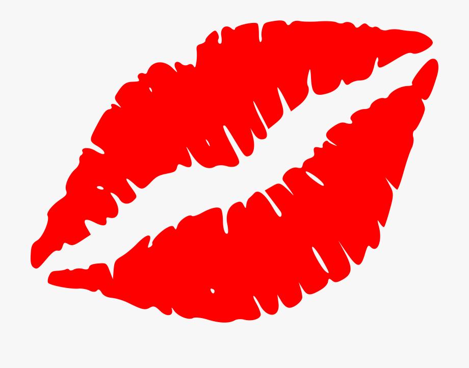 Kiss Clipart Black And White.