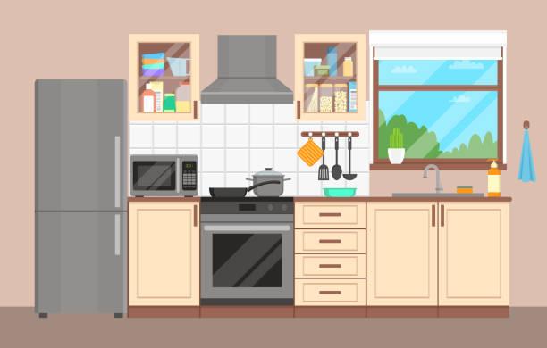 Best Kitchen Window Illustrations, Royalty.