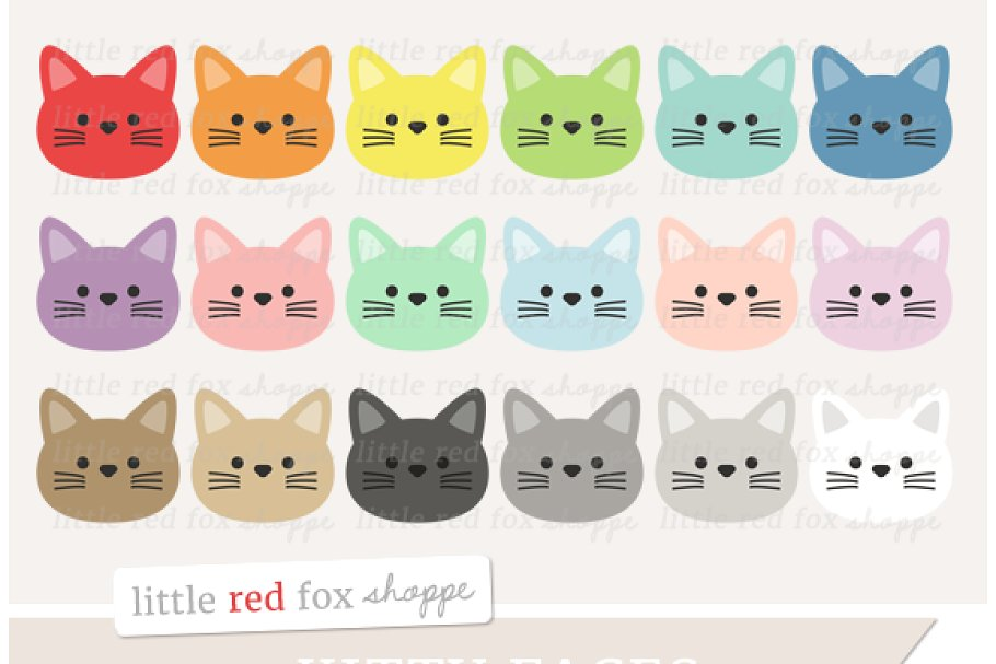 Kitty Cat Face Clipart.