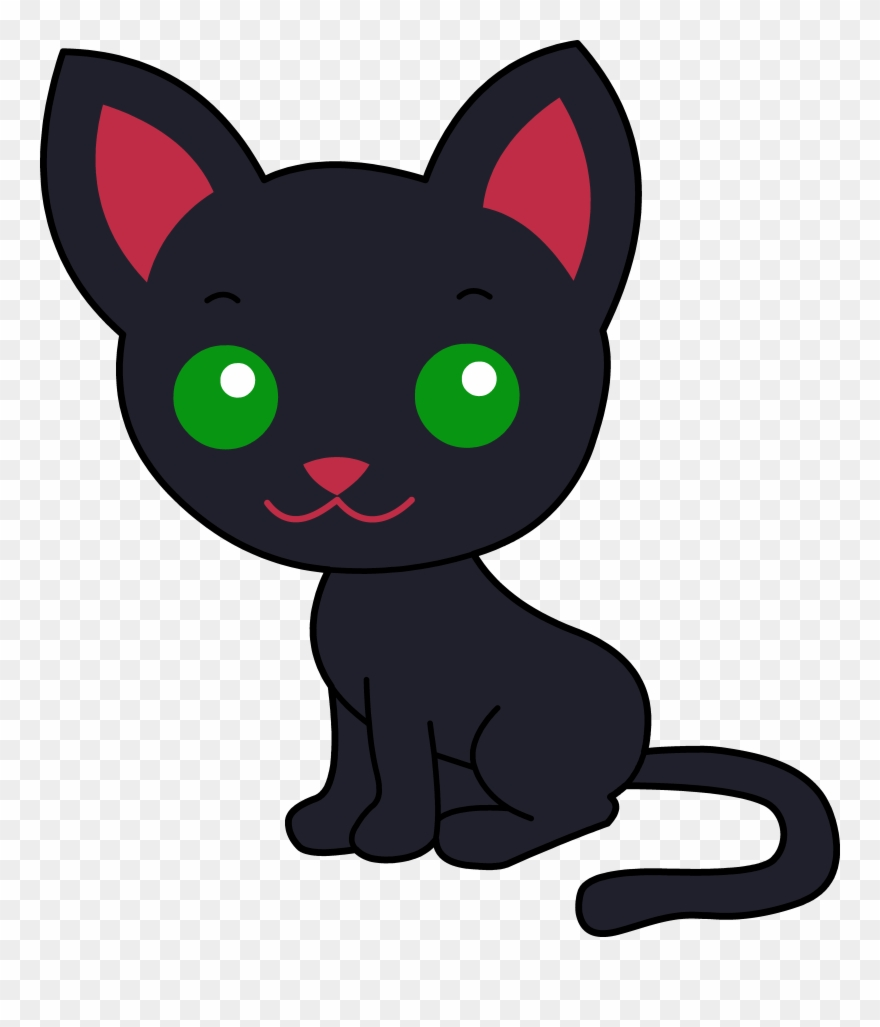 Cute Black Kitty Cat.