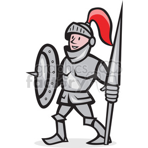 knight shield lance stand iso clipart. Royalty.