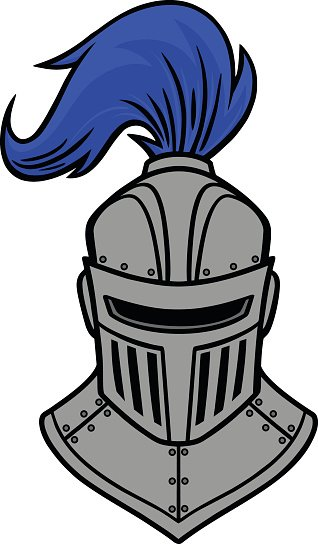 Knight Front View premium clipart.
