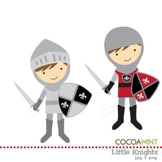 Little Knights Clip Art.