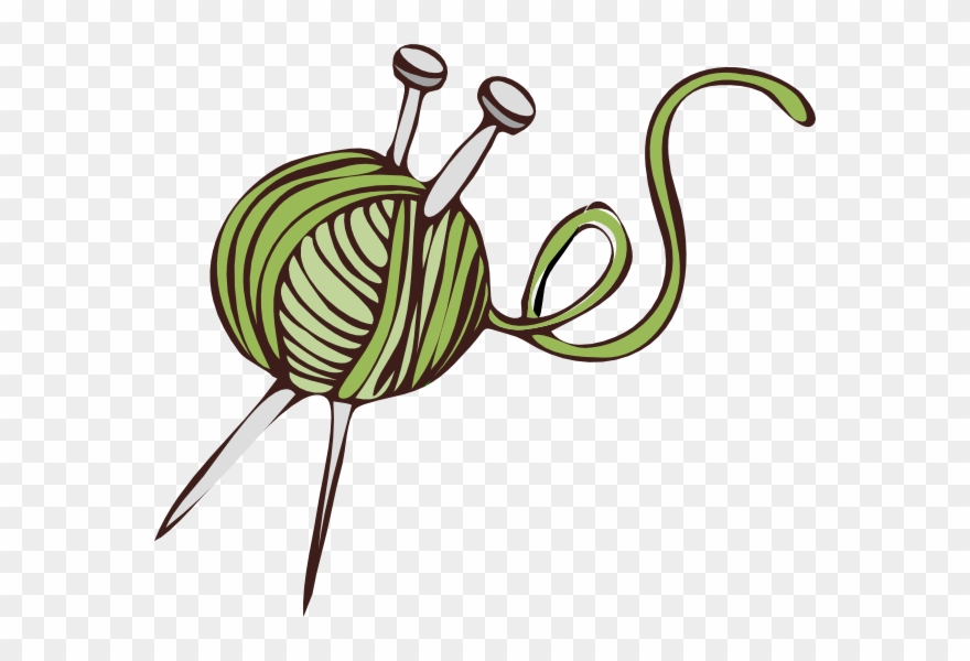 Knit Clipart Green Knitting.