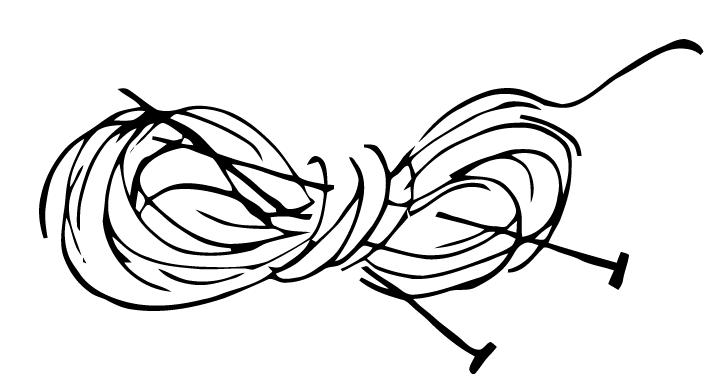 Free Vector Art: Knitting Needles and Yarn.