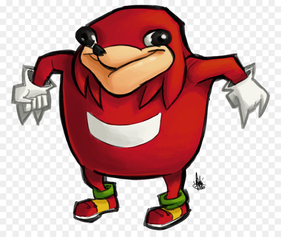 Knuckles Sonic clipart.