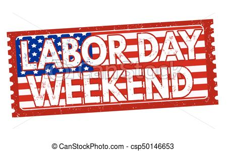 Labor day weekend sign or stamp.