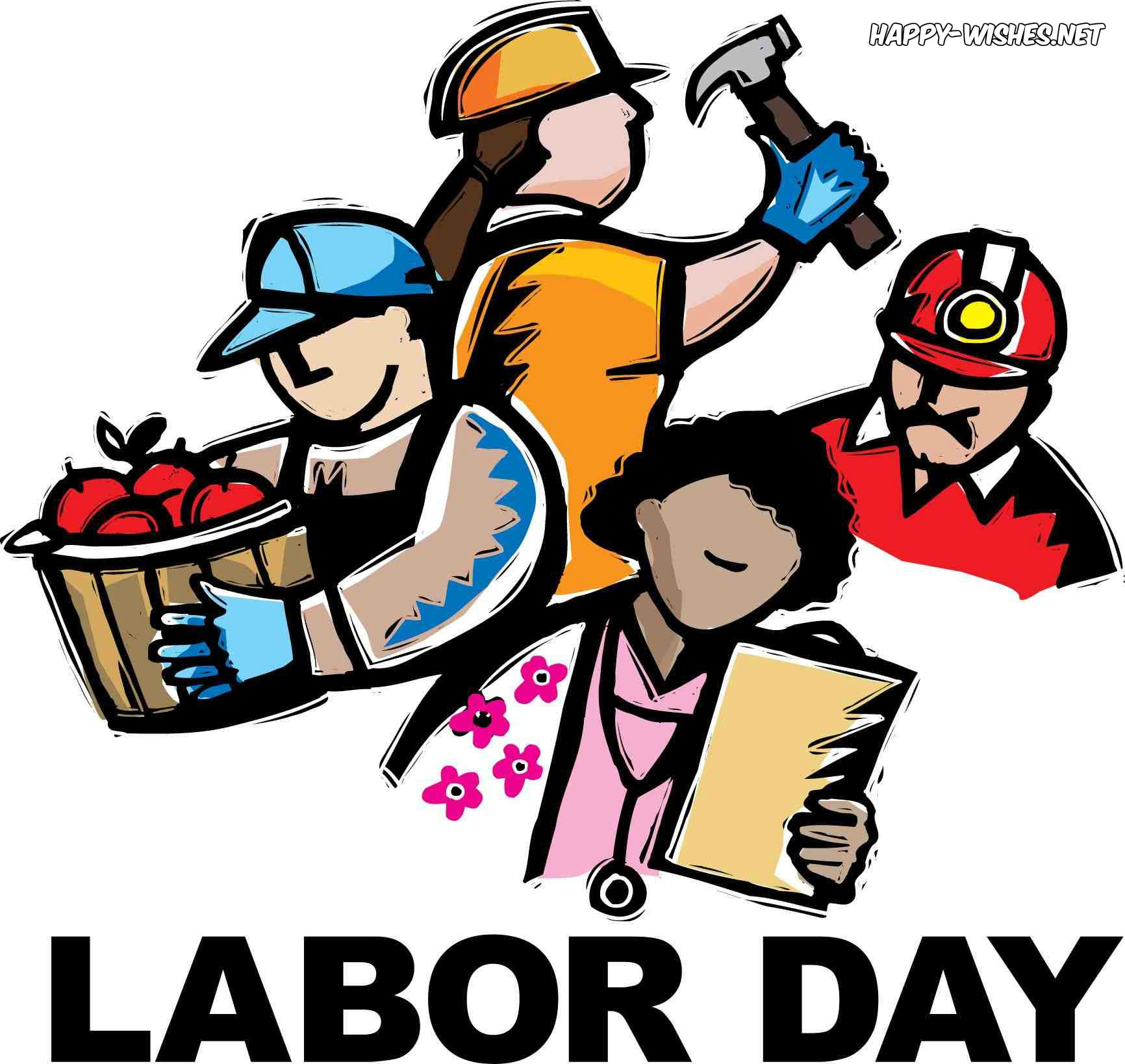 Happy Labor Day 2019 Clip Art.