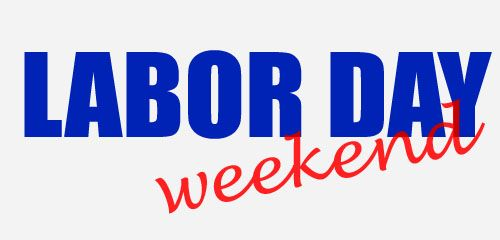 Labor Day Weekend Clipart.