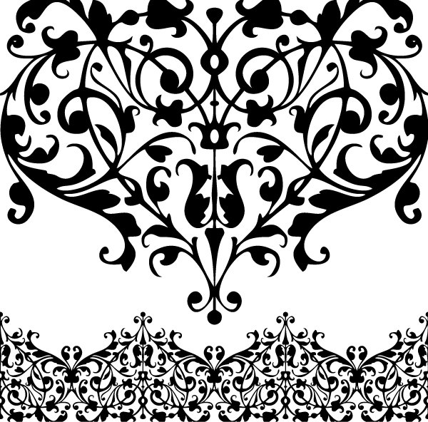 Digital Lace. digital Borders. Clip Art lace. Clipart borders.
