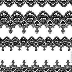 Lace border clip art:
