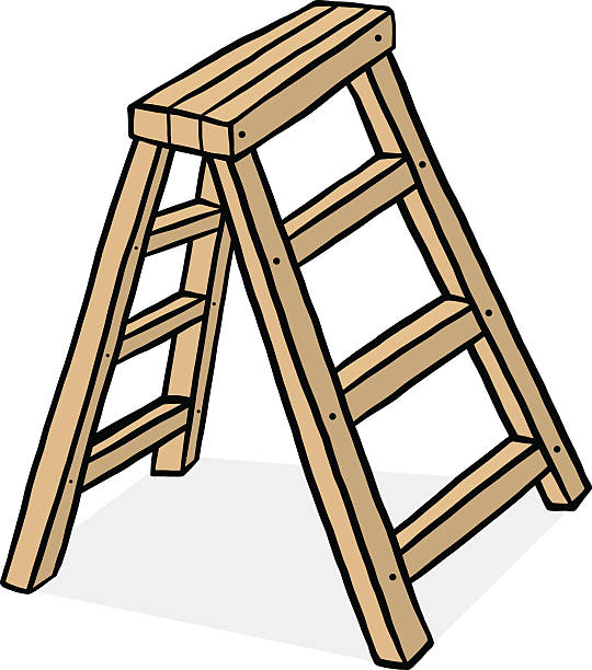 Best Drawing Of A Step Ladder Illustrations, Royalty.