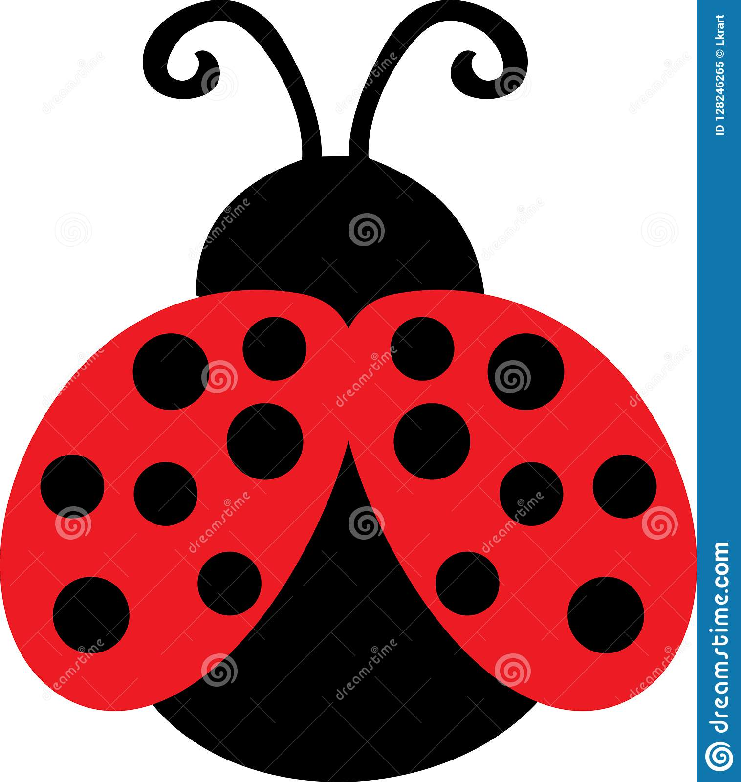 Cute Lady Bug Clip Art stock vector. Illustration of miraculous.