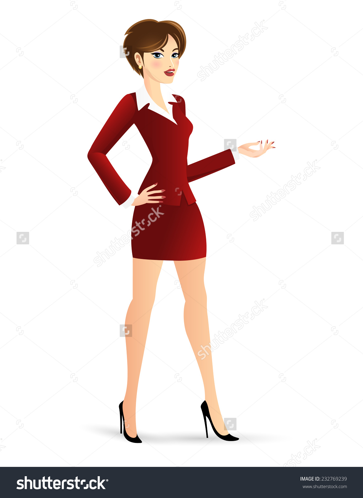 Showing post & media for Cartoon woman standing clip art.