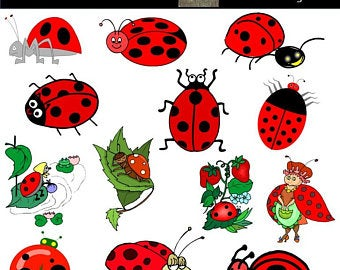 Ladybugs Clip Art Clipart Pretty Red Ladybugs Clipart.