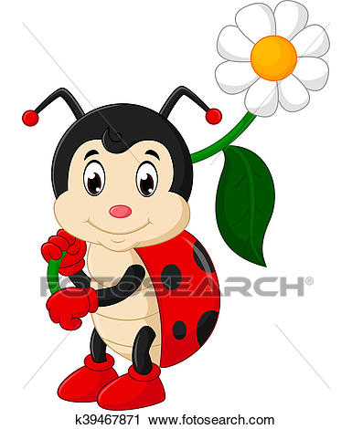 Ladybug cartoon Clip Art.