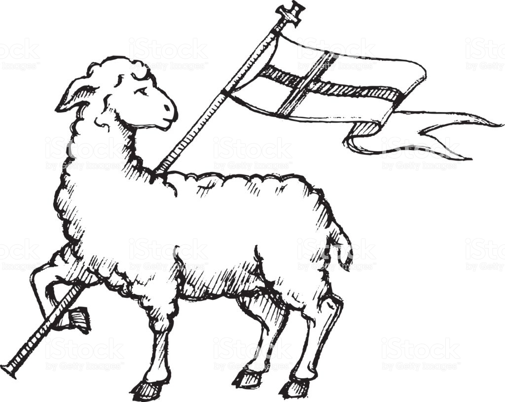 Lamb Of God Stock Illustration.