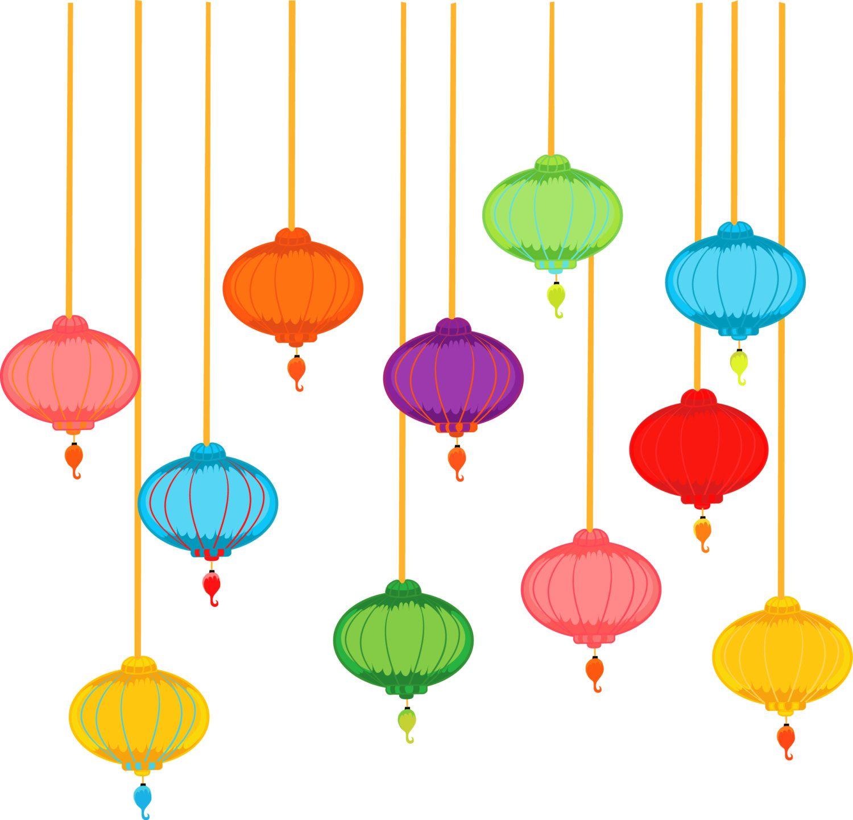 Paper Lanterns clipart, Chinese Lanterns Clipart, Lanterns Clipart.