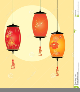 Japanese Lanterns Clipart.
