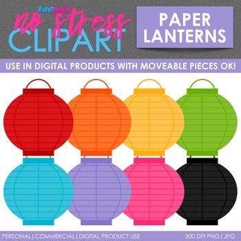 Paper Lanterns Clip Art (Digital Use Ok!).
