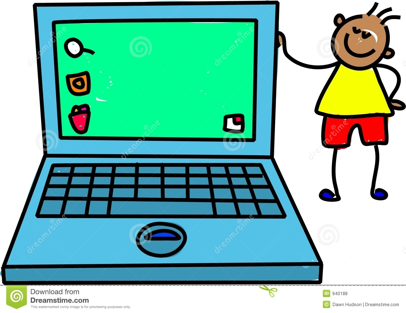 Laptop Computer Clipart For Kids.