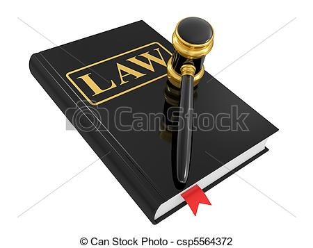 legal gavel and law book.