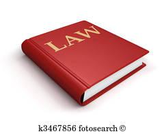 Law Book Stock Illustration.